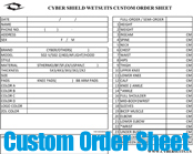 Custom Wetsuit Order Form