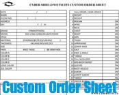 Custom Wetsuit Order Form